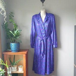 Vintage Purple shirt dress with belt